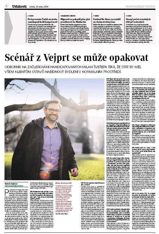 Print newspaper page with the interview