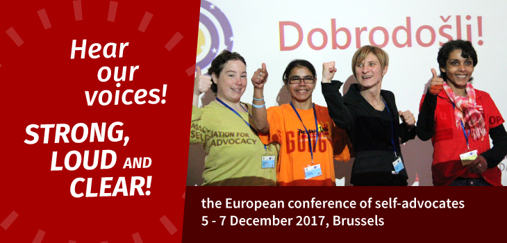 Hear Our Voices – Self-advocates meet in Brussels