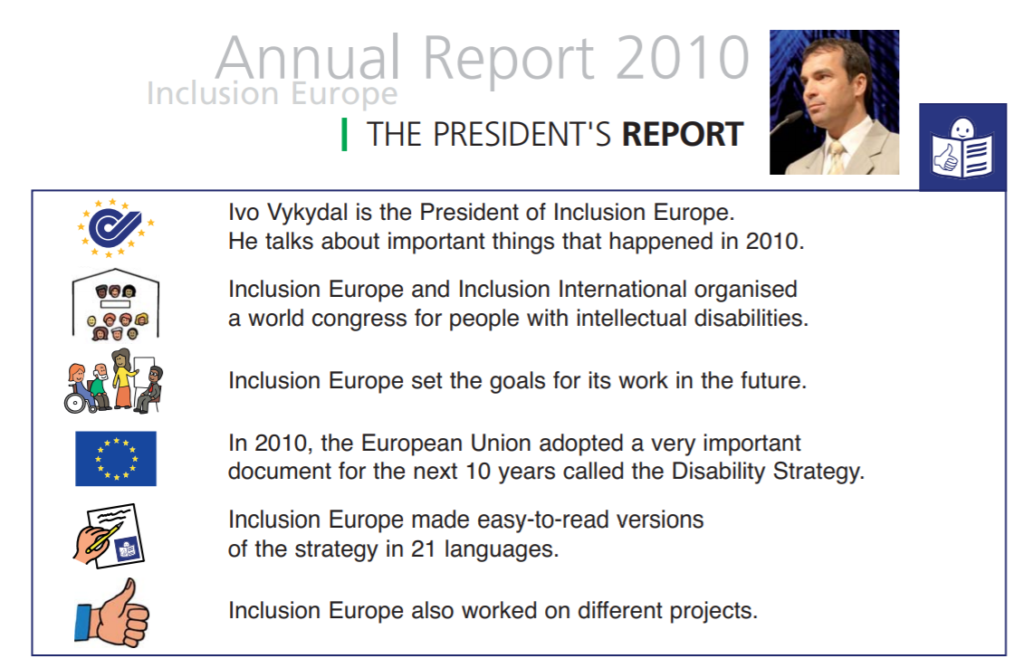 Ivo Vykydal writes in the Inclusion Europe 2009 annual report