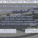 CRPD Shadow reporting – Opportunities for Self-Advocacy